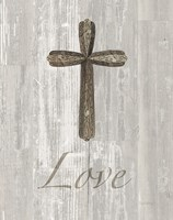 Words for Worship Love on Wood Fine Art Print