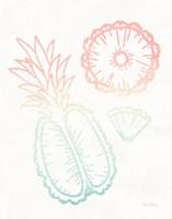 Sunset Palms Fruit II Framed Print