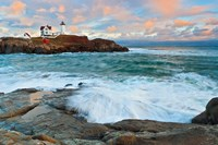 Nubble Sunset Framed Print