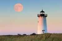 Moon over Marthas Vineyard Fine Art Print