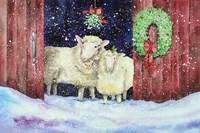 Christmas Sheep Fine Art Print