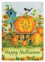 Halloween Pumpkins Happy Halloween Fine Art Print