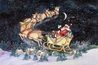 Santas Ride Fine Art Print