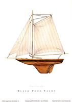"Black Pond Yacht by Karyn Frances Gray - 5"" x 7"" - $9.99"