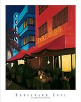 Boulevard Cafe Fine Art Print