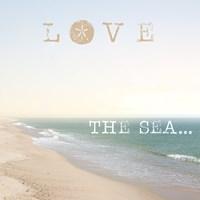 Love the Sea Framed Print