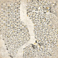 Neutral New York Map Fine Art Print