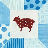 Modern Americana Farm Quilt II Fine Art Print