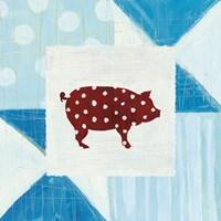 Modern Americana Farm Quilt I Fine Art Print