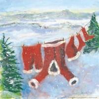 Santa Suit on Clothesline Fine Art Print