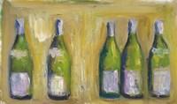 French Wine Bottles Fine Art Print