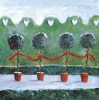 Holly with Ivy Topiaries Fine Art Print