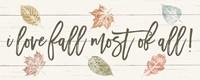 Harvest Sentiments Sign I Fine Art Print