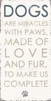 Dogs - Blue Framed Print