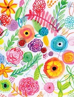 Floral Fun II Framed Print