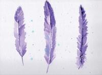 Lavender Feathers Fine Art Print