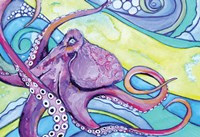Surfin' Octopus Framed Print