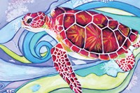 Surfin' Turtle Framed Print