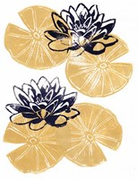 Golden Lily Pad Fine Art Print
