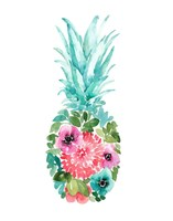 Floral Pineapple I Fine Art Print