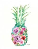 Floral Pineapple III Fine Art Print