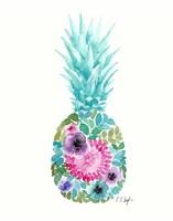 Floral Pineapple IV Framed Print