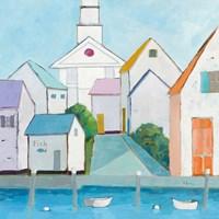 Harbor Town III Fine Art Print
