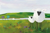 Sheep in the Meadow Fine Art Print