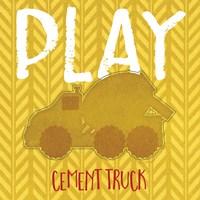 Cement Truck Play Fine Art Print