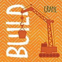 Crane Build Framed Print
