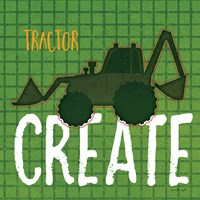 Tractor Create Framed Print