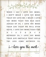 I Love You More Framed Print