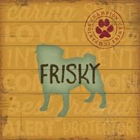 Frisky Dog Fine Art Print