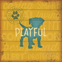Playful Dog Fine Art Print