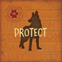 Protect Dog Fine Art Print