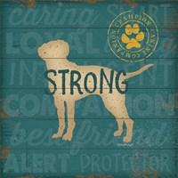 Strong Dog Framed Print