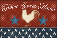 Red White and Blue Rooster III Fine Art Print