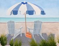 Blue Beach Fine Art Print