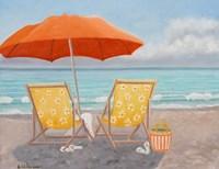 Orange Beach Umbrella Fine Art Print