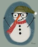 Hip Snowman Fine Art Print