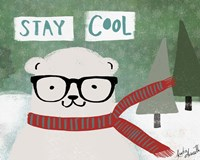 Hipster Bear Stay Cool Fine Art Print