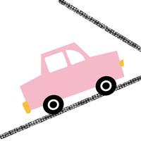Pink Car on Road Fine Art Print