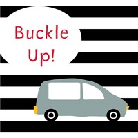 Buckle Up Grey Fine Art Print