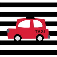 Bright Red Taxi Fine Art Print