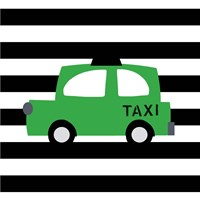 Bright Green Taxi Fine Art Print
