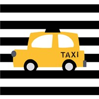 Bright Yellow Taxi Fine Art Print