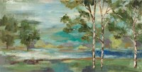 Aspens by the Lake Fine Art Print