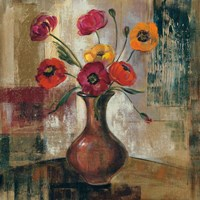 Poppies in a Copper Vase II Fine Art Print