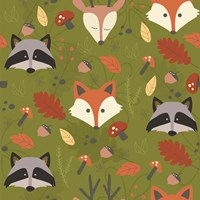 Fall Animal Pattern Fine Art Print
