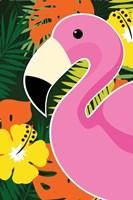 Tropical Flamingo Fine Art Print